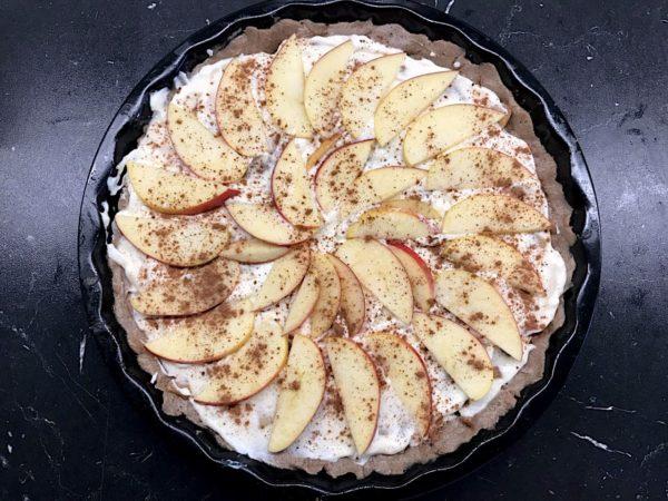 Jablkový pohankový koláč krok 3
