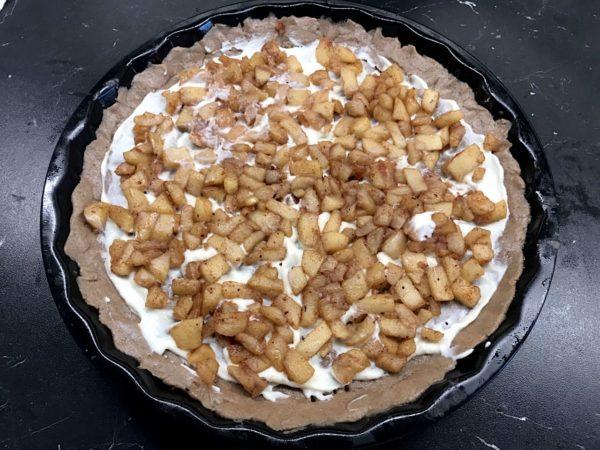 Jablkový pohankový koláč krok 1