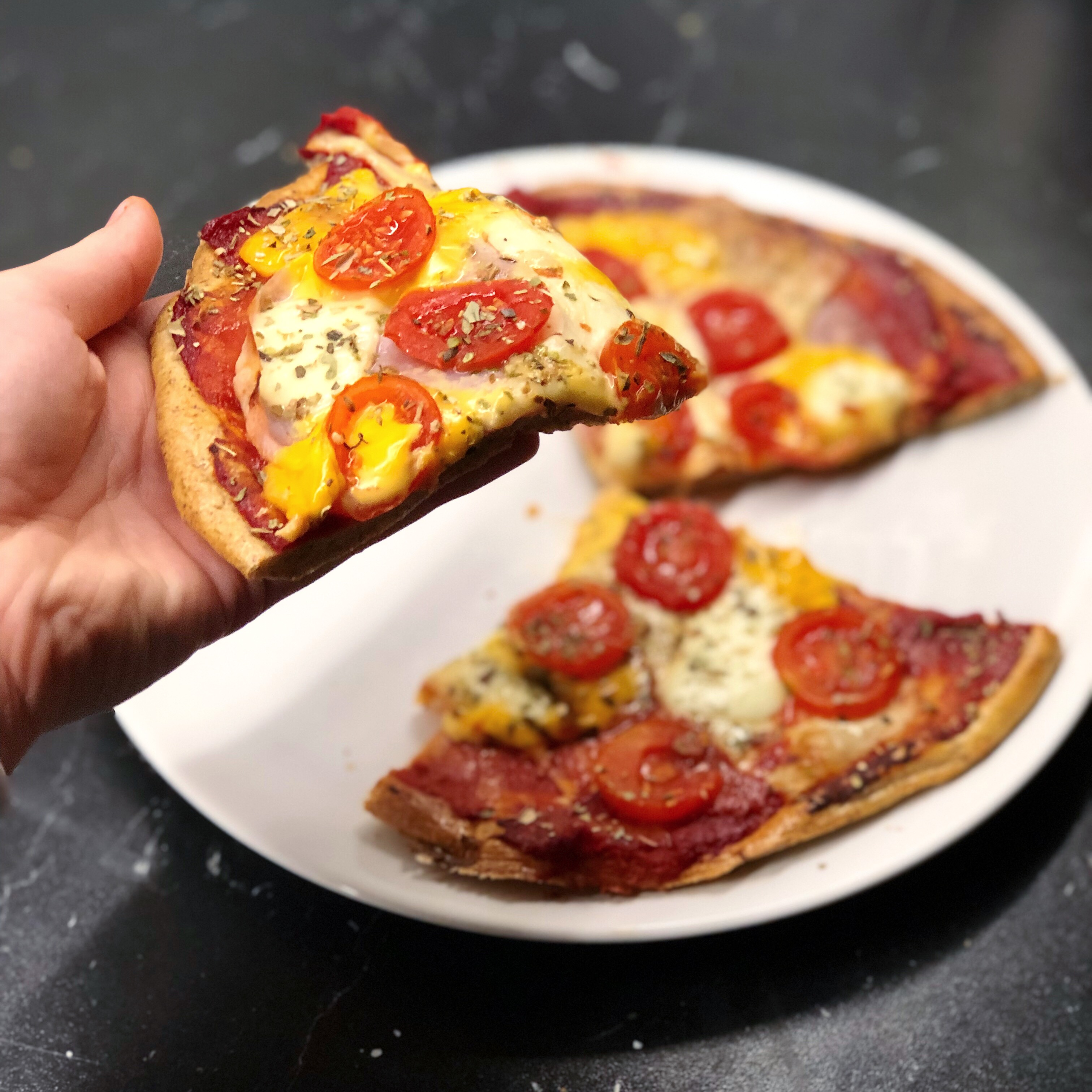 Zdravá bezlepková lowcarb pizza