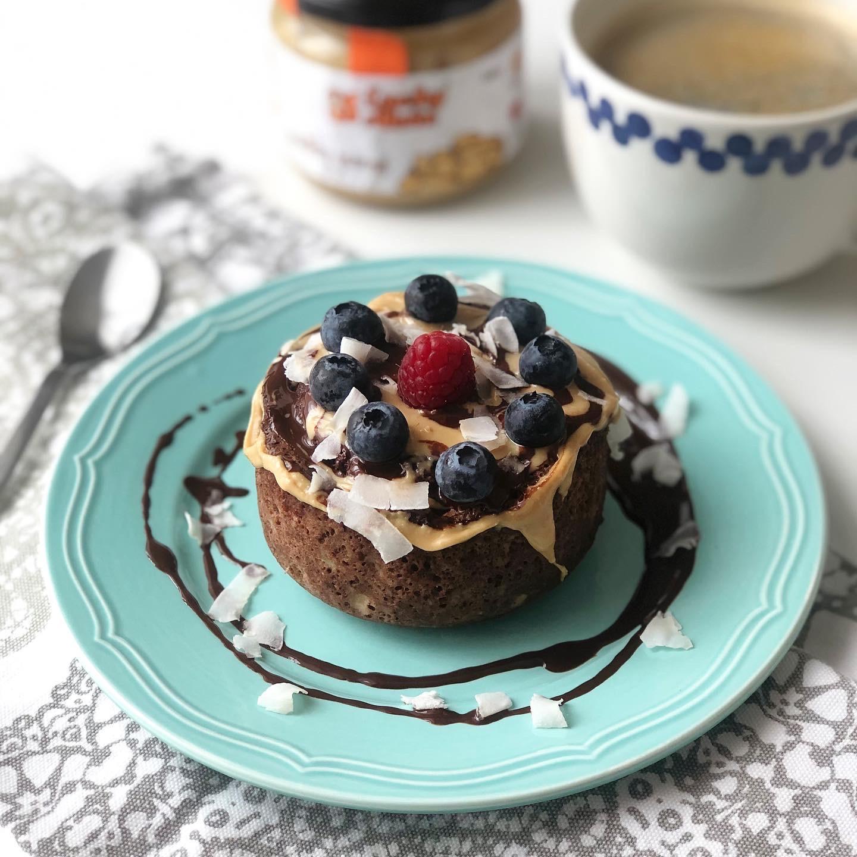 Mandlový čoko mugcake s proteinem