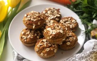 Ovesné mrkvové muffiny s podmáslím
