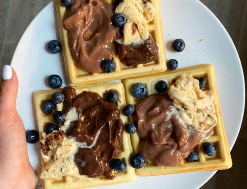 Vanilkové proteinové vafle